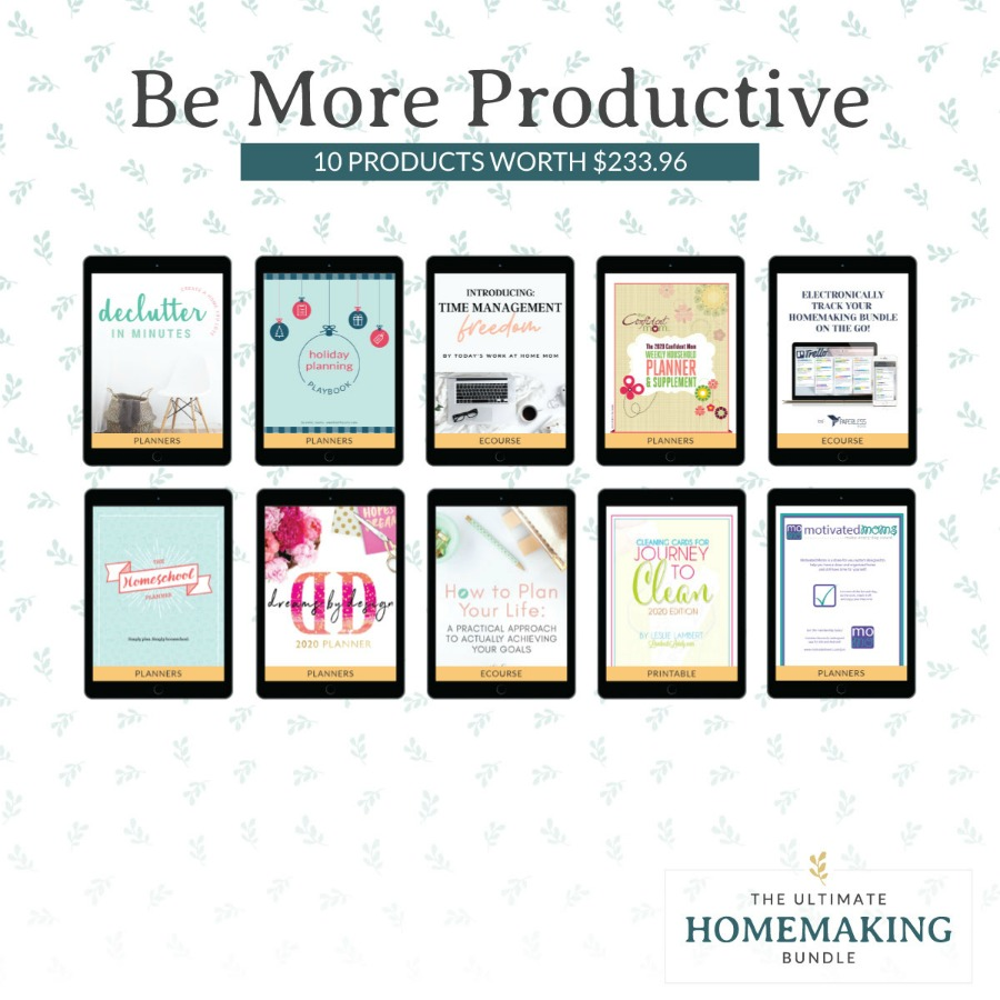 Be more productive with these 10 products in the 2020 Ultimate Homemaking Bundle
