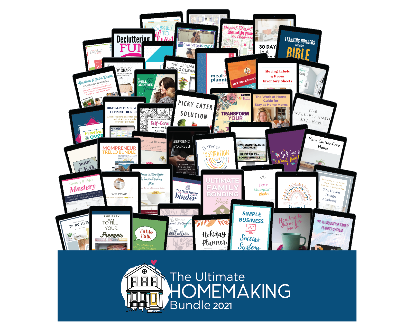 All of the products in the 2021 Ultimate Homemaking Bundle