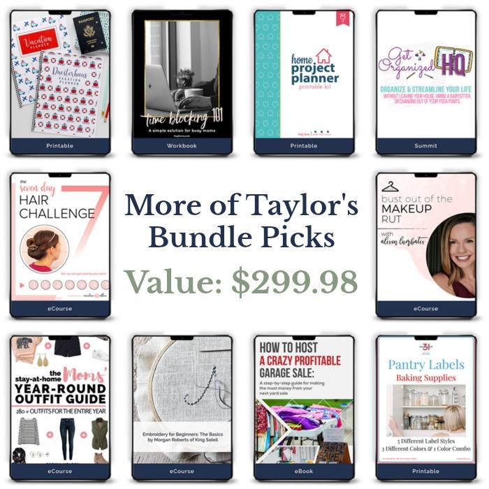 Even more of Taylor's bundle picks