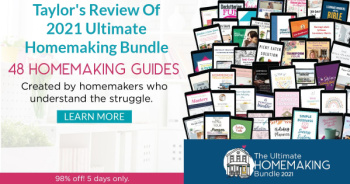 Taylor's review of the 2021 Ultimate Homemaking Bundle