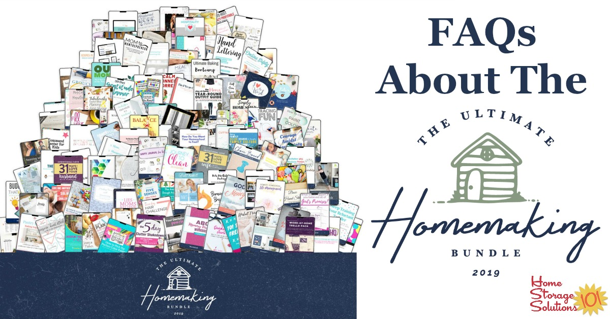 Learn more about the Ultimate Homemaking Bundle, which has over 104 resources for one low price to help you succeed in all aspects of homemaking.