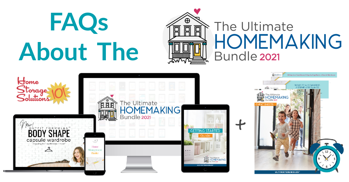 Learn more about the Ultimate Homemaking Bundle, which has 48 resources for one low price to help you succeed in all aspects of homemaking.