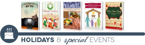 ultimate homemaking ebook bundle, holidays shelf