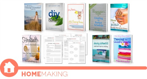 ultimate homemaking ebook bundle, homemaking shelf
