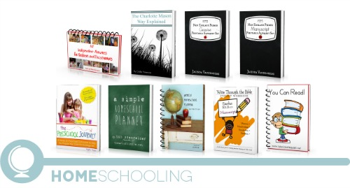 ultimate homemaking ebook bundle, homeschooling shelf