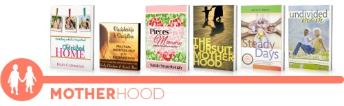 ultimate homemaking ebook bundle, motherhood shelf