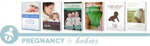 ultimate homemaking ebook bundle, pregnancy shelf