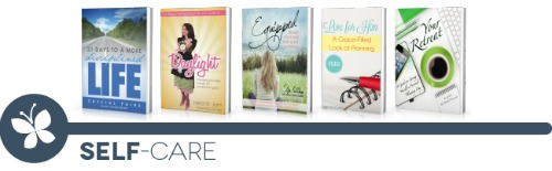 ultimate homemaking ebook bundle, self-care shelf
