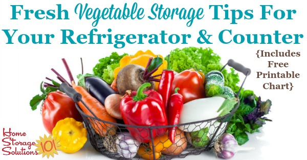 graphic relating to Vegetable Printable named Contemporary Vegetable Storage Recommendations For Your Fridge Counter