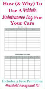how and why to use a vehicle maintenance log for your cars