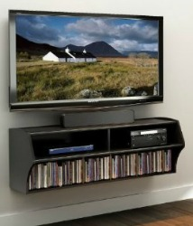 wall mounted home entertainment console