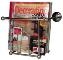 wall mounted magazine rack