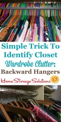 Simple trick to identify closet wardrobe clutter