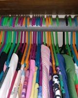 backward hangers in closet