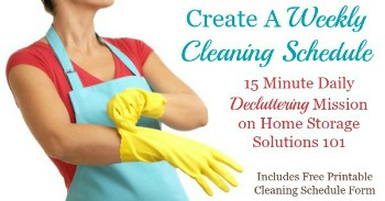 How to create a weekly cleaning schedule