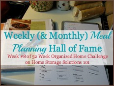 weekly and monthly meal planning hall of fame
