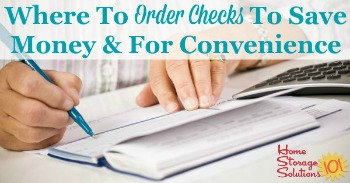Where to order checks to save money and for convenience