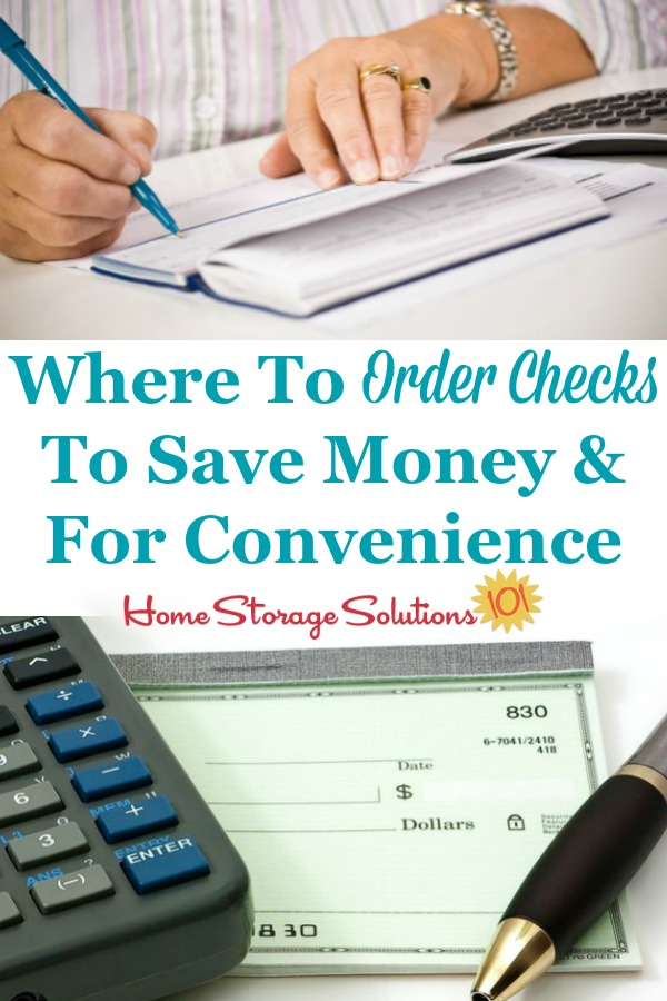 Here is where to order checks for personal use or business, and how it saves you money and is really easy to order online {on Home Storage Solutions 101} #PersonalChecks #OrderChecksOnline #OrderChecks