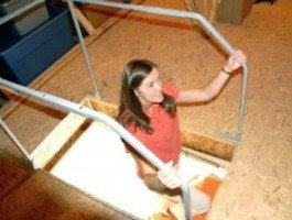 attic safety railing