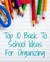 back to school ideas for organization