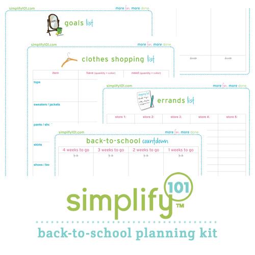 back to school planning kit