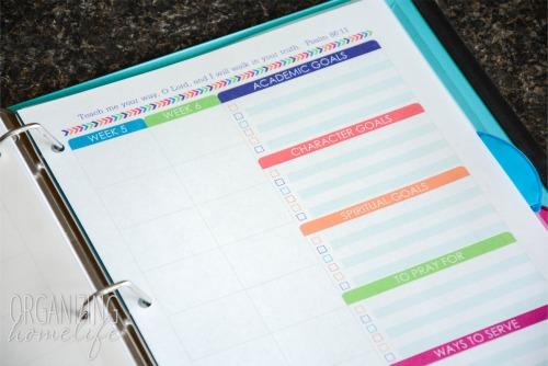homeschool planner goals