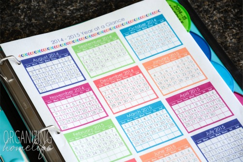 homeschool planner year at a glance