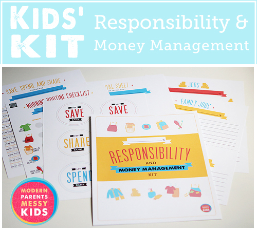 kids' responsibility and money management kit