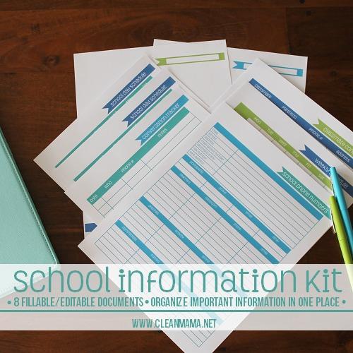 school information kit