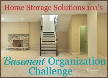 Step by step instructions for basement organization, including using zones to help you organize (plus link to a free printable storage inventory form) {one of the 52 Week Organized Home Challenge on Home Storage Solutions 101}