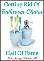 getting rid of bathroom clutter hall of fame