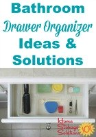 Bathroom drawer organizer ideas and solutions