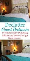 Declutter guest bedroom mission