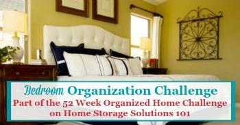 Bedroom organization challenge