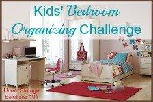 kids' bedroom organizing challenge