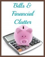 bills and financial clutter