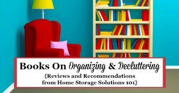 Books on organizing and decluttering