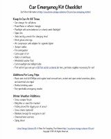 car emergency kit checklist