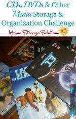 CD & DVD Organization & Storage Challenge