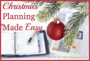 Recommended free resource for Christmas planning, so your holidays can be joyful and stress free {on Home Storage Solutions 101}