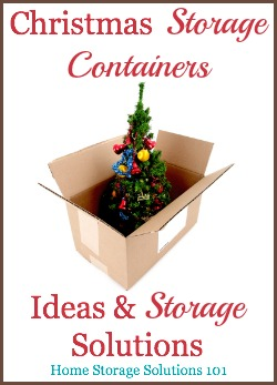Christmas storage container ideas and solutions {on Home Storage Solutions 101}