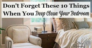 10 things to deep clean in your bedroom