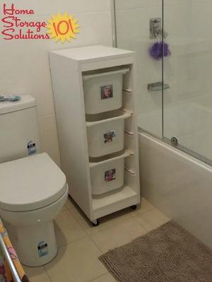 laundry sorter baskets in bathroom