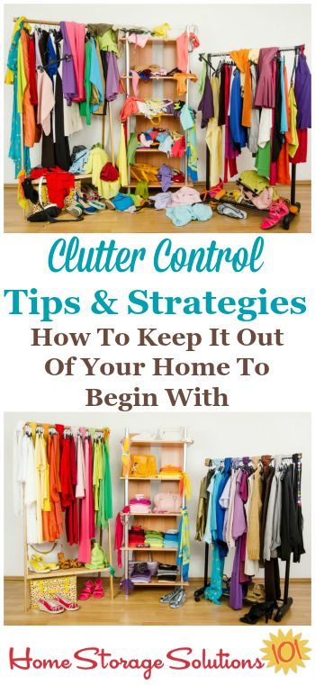 Clutter just seems to creep back into your home doesn't it? Here are #clutter control tips and strategies you can use beginning today to keep the clutter out of your home and from accumulating further {on Home Storage Solutions 101} #ClutterControl #Declutter