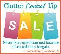 clutter control tip