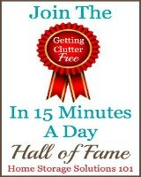 getting clutter free in 15 minutes a day hall of fame