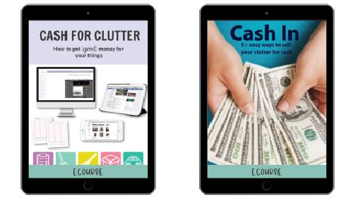 2 different courses to help you learn to sell clutter for cash