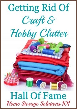 craft and hobby clutter