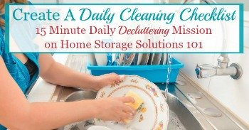 Create a daily cleaning checklist