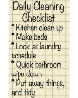 create daily cleaning checklist
